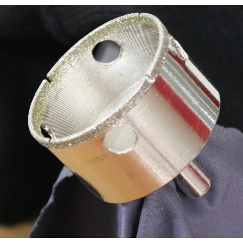 Cloche diamant pour carrelage et gr s c rame tr pant diamant 3 mm 110 mm - Percer carrelage scie cloche ...