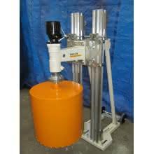 Carotteuse hydraulique sur bâti pour carottage à eau jusqu'au diametre 1500 mm