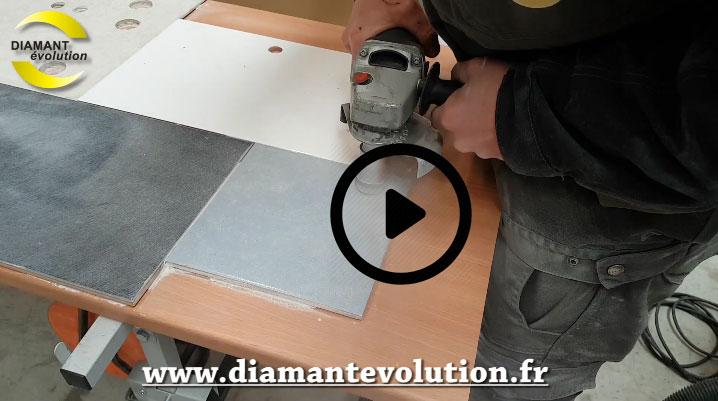 couronne diamant 45 mm pour meuleuse pour percer a sec le carrelage et gres cerame. Black Bedroom Furniture Sets. Home Design Ideas
