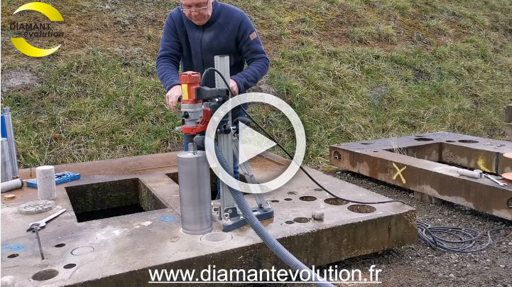 Carotteuse DS200 - carottage a sec du beton arme - 162 mm