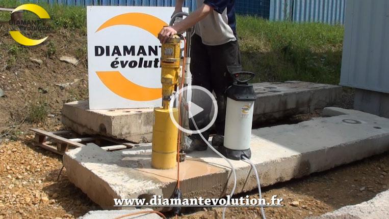 Carotteuse BBD1 double colonne pour carottage a eau