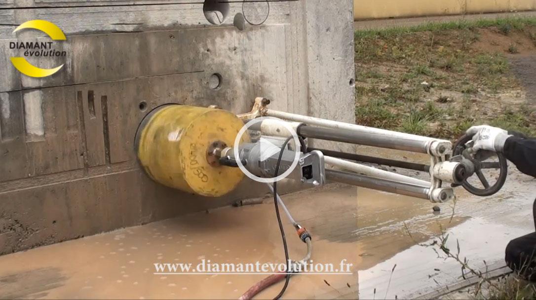 Carotteuse 220 volts pour carottage jusqu'au Ø 500 mm