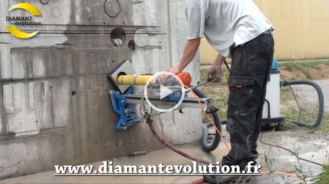 Carotteuse PRO200 à eau avec récupérateur de boues