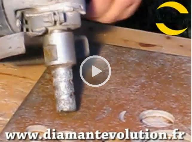 Fraise diamant pour agrandir les percages dans le grés cérame et carrelage