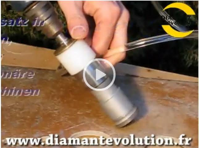 Cloche diamant avec injecteur eau pour percer carrelage