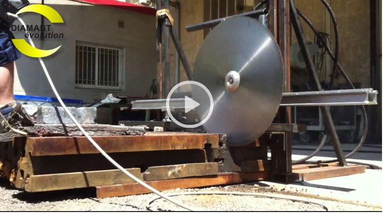 Sciage de bati en acier