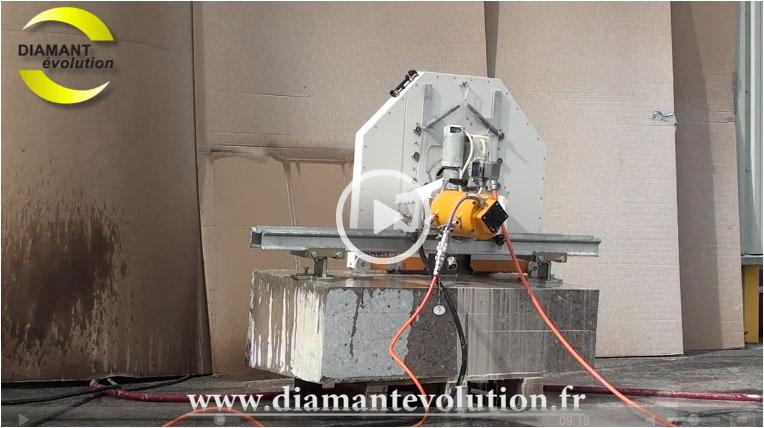 Scie murale BWS15 électrique - pour découper le béton armé