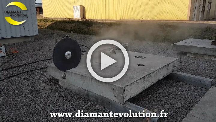 Sciage de béton armé à sec
